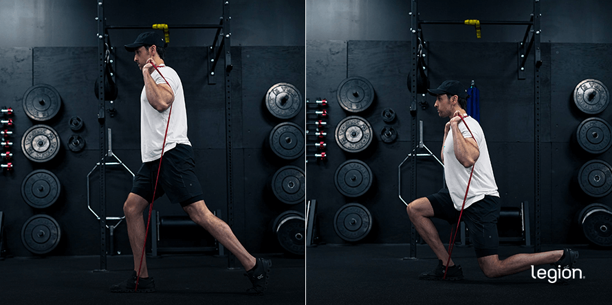 Banded Single Leg Squat