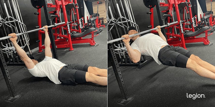 Bodyweight Row before/after
