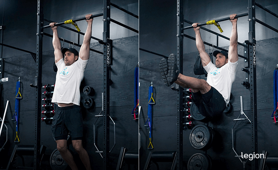 Hanging Leg Raise before/after