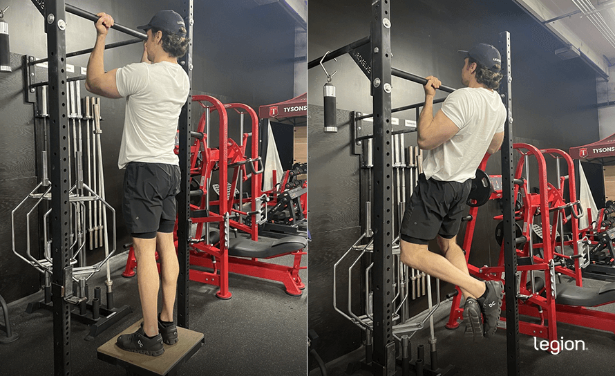 Isometric Chin-Up before/after