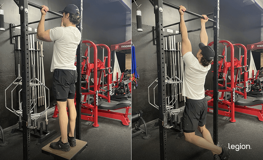 Negative Chin-Up before/after