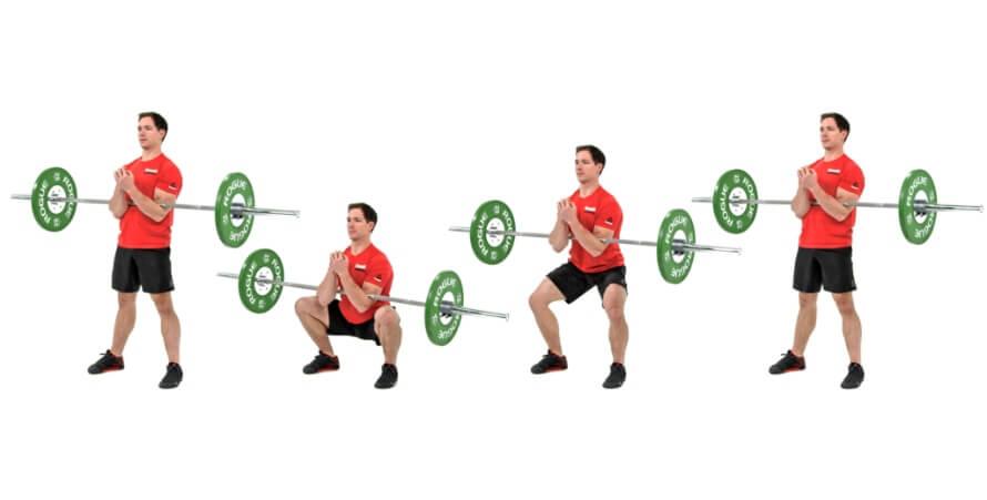 Front squat vs back squat