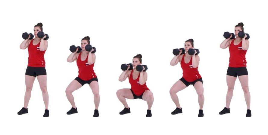 Front squat grip width