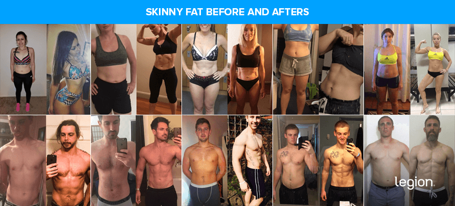 Skinny Fat Before and Afters