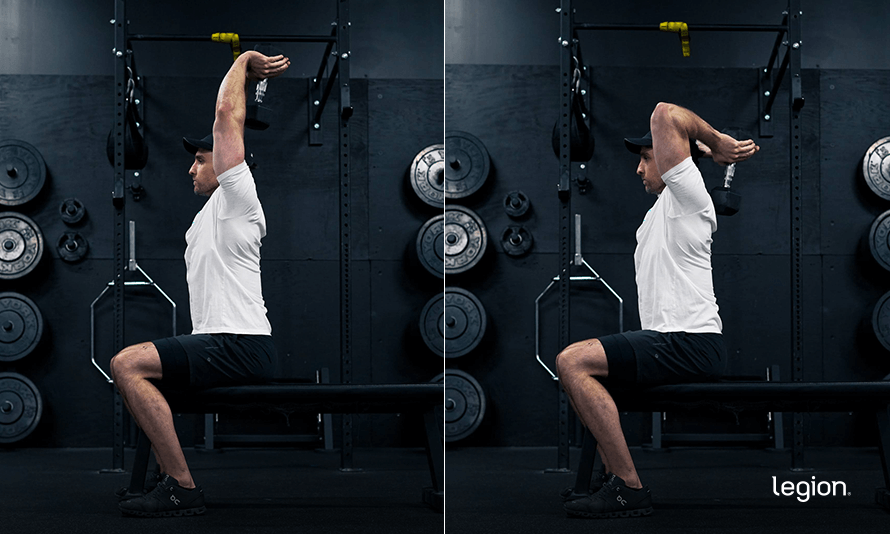 Dumbbell Overhead Triceps Extension Mike