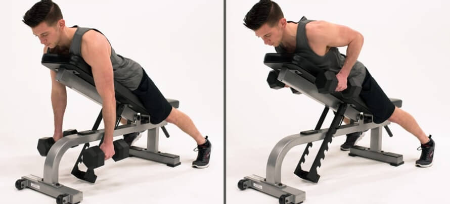 Two-arm dumbbell row