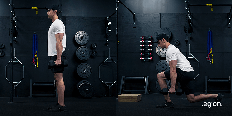 Dumbbell or Barbell Lunge