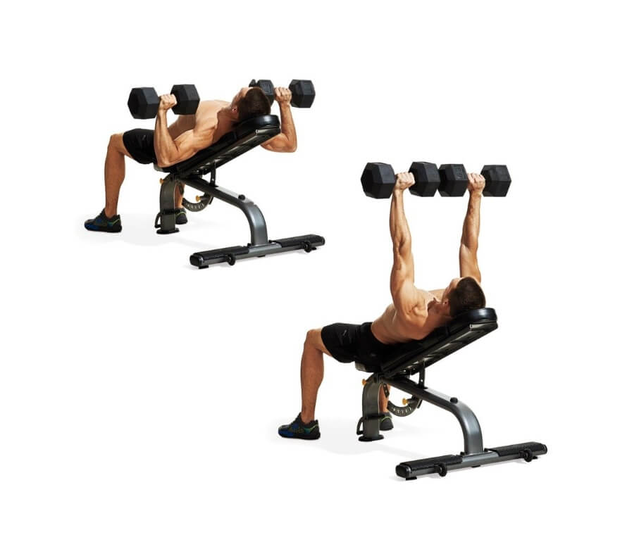 Low-Incline Dumbbell Press