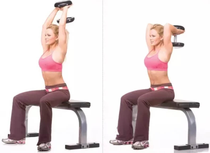 Dumbbell Overhead Triceps Extension (1)