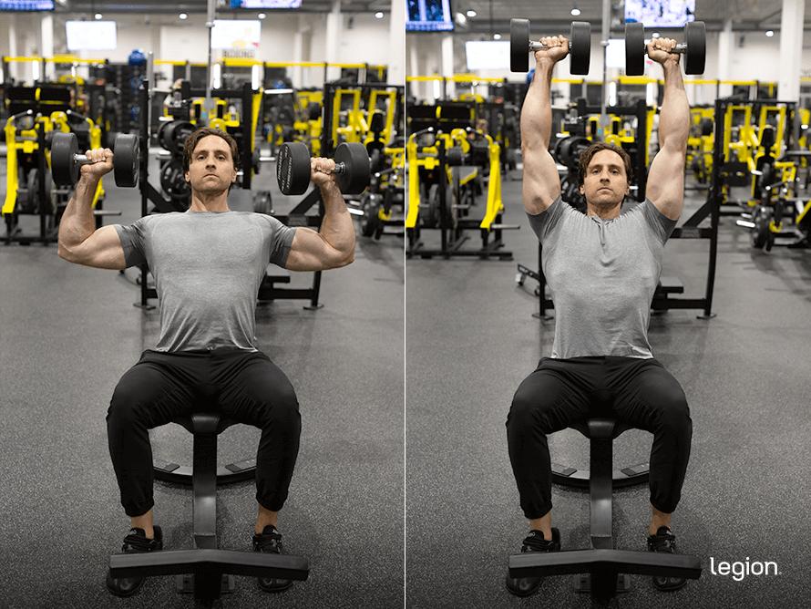 Dumbbell Shoulder Press before/after