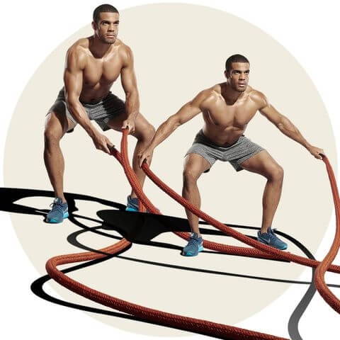 battle rope workout routine